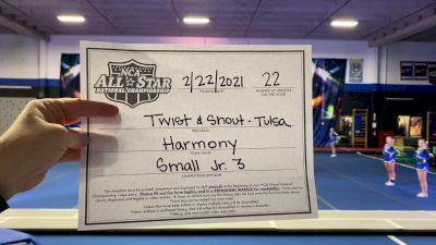 Twist & Shout - Tulsa - Junior Harmony [L3 Junior - Small - B] 2021 NCA All-Star Virtual National Championship