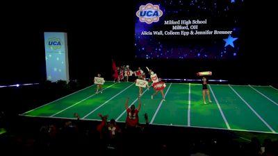 Milford High School [2020 Varsity Non Building Game Day Semis] 2020 UCA National High School Cheerleading Championship