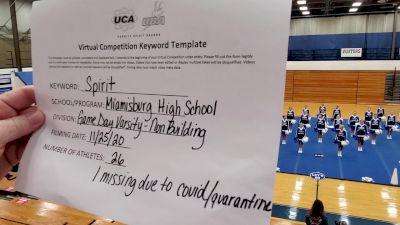 Miamisburg High School [Game Day - Varsity Non Building] 2020 UCA Miami Valley Virtual Regional