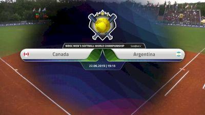Argentina vs Canada   XVI Men's Softball World Championship   Svoboda Ballpark