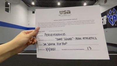 Peak Athletics - Dime Squad [Senior - Hip Hop] 2021 USA All Star Virtual Championships