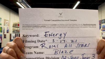 RAMS All Stars - Blaze [L3 Junior - D2 - Small - B] 2021 Beast of The East Virtual Championship