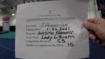 Arizona Element Elite - Lady Lithium [L3 Senior] 2021 ATC International Virtual Championship