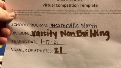Westerville North High School [Large Varsity Non Building] 2021 UCA January Virtual Challenge