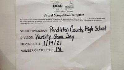 Pendleton County High School [Game Day Medium Varsity] 2021 UCA January Virtual Challenge