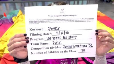 Las Vegas All Stars - Pink [L3 Junior - D2 - Medium] Varsity All Star Virtual Competition Series: Event V