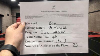Core Athletix - Twilight [L1 Mini] 2021 The Regional Summit Virtual Championships