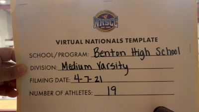 Benton High School [Virtual Medium Varsity Finals] 2021 UCA National High School Cheerleading Championship