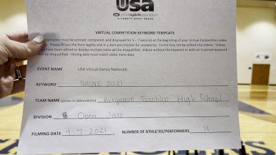 Benjamin Franklin High School [Jazz Varsity - Medium] 2021 USA Spirit & Dance Virtual National Championships