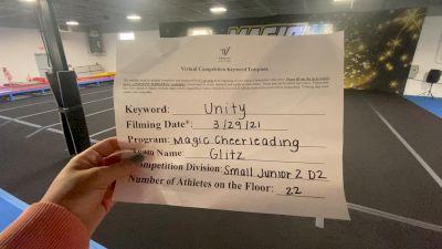 Magic Cheerleading - Glitz [L2 Junior - D2 - Small] 2021 Mid Atlantic Virtual Championship