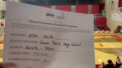Crown Point High School [Varsity - Pom] 2020 UDA North Virtual Dance Challenge
