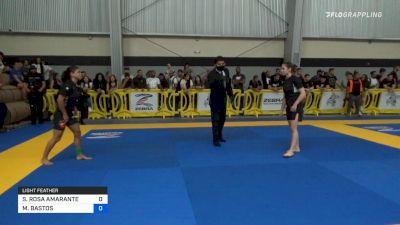 SOFIA ROSA AMARANTE vs MAYSSA BASTOS 2021 Pan IBJJF Jiu-Jitsu No-Gi Championship