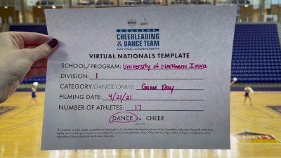 University of Northern Iowa [Virtual Division I Game Day - Dance Finals] 2021 UCA & UDA College Cheerleading & Dance Team National Championship