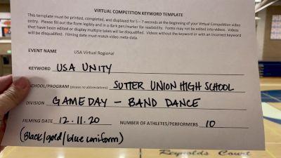 Sutter Union High School [High School – Band Chant – Cheer] 2020USA Virtual Regional