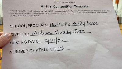Northville High School [Medium Varsity - Jazz] 2021 UDA Spirit of the Midwest Virtual Challenge