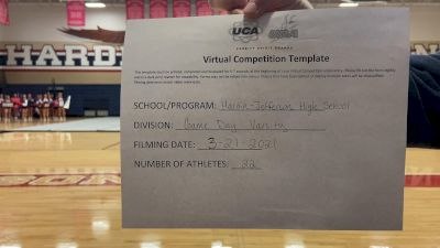 Hardin Jefferson High School [Game Day - Large Varsity] 2021 UCA & UDA March Virtual Challenge