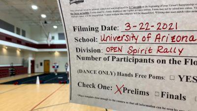 University of Arizona Club Cheer [Virtual Spirit Rally Open Finals] 2021 NCA & NDA Collegiate Cheer & Dance Championship