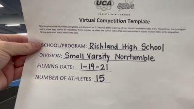 Richland High School [Small Varsity - Non Tumble] 2021 UCA January Virtual Challenge
