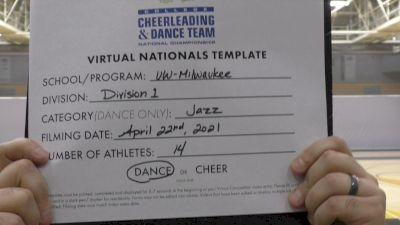 University of Wisconsin-Milwaukee [Virtual Division 1 - Jazz Finals] 2021 UCA & UDA College Cheerleading & Dance Team National Championship