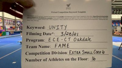 East Celebrity Elite - CT - Fame [L6 Senior Coed - Xsmall] 2021 Mid Atlantic Virtual Championship