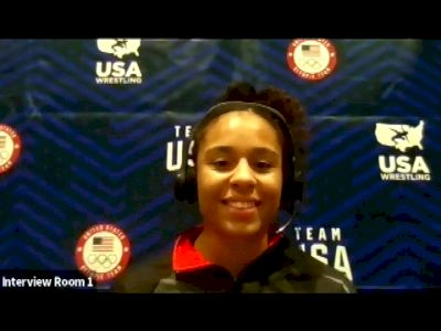 Maya Nelson (62 kg) after true third match at 2021 Olympic Trials