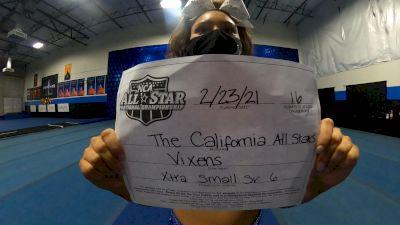 The California All Stars - Vixens [L6 Senior - Xsmall] 2021 NCA All-Star Virtual National Championship