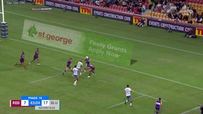 Patrick Tuipulotu with a Try vs Queensland Reds