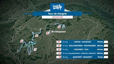 2021 Tour of Hongrie Stage 2 Flythrough