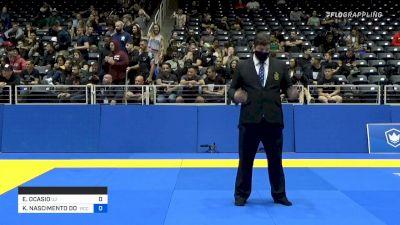 EDWIN OCASIO vs KALEL NASCIMENTO DOS SANTOS 2021 World IBJJF Jiu-Jitsu No-Gi Championship