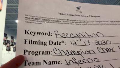 Champion Cheer - Inferno [Level 1 L1 Junior - Medium] 2020 America's Best Virtual National Championship