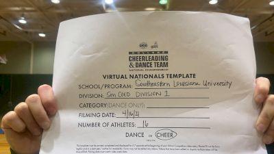Southeastern Louisiana University [Virtual Small Coed Division I Finals] 2021 UCA & UDA College Cheerleading & Dance Team National Championship