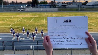 Orland High School [High School – High School Situational Sideline/Crowdleading Cheer] 2021USA Virtual Spirit Regional #2 and All Star Dance Regional #1