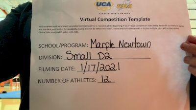 Marple-Newtown High School [Small Varsity] 2021 UCA January Virtual Challenge