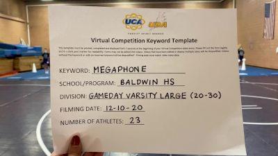 Baldwin High School [Game Day Varsity] 2020 UCA Pocono Virtual Regional