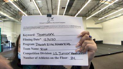 Desert Elite Mavericks - Riot [Level 1 L1 Junior - Medium] Varsity All Star Virtual Competition Series: Event VII