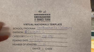 Southeastern Louisiana University [Virtual Division I Hip Hop Semi Finals] 2021 UCA & UDA College Cheerleading & Dance Team National Championship