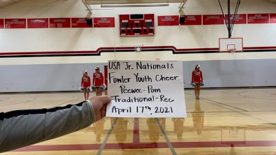 Fowler Youth Cheer [Pee Wee - Pom - Traditional Rec] 2021 USA Spirit & Dance Virtual National Championships