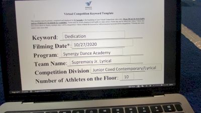 Synergy Dance Academy - Supremacy [Junior Contemporary/Lyrical] Varsity All Star Virtual Competition Series: Event II