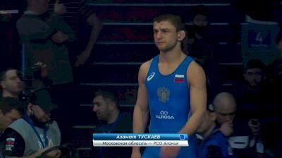 57 kg Bronze Medal Match, Azamat Tuskaev vs Uigulaan Ivanov