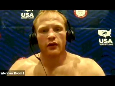 Chance Marsteller (74 kg) after first round win at 2021 Olympic Trials