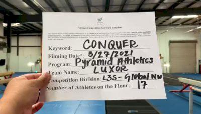 Pyramid Athletics - Luxor [L3 Senior - Global NW] 2021 Varsity All Star Winter Virtual Competition Series: Event V