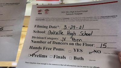 Oakville High School [Junior Varsity - Pom Virtual Prelims] 2021 NDA High School National Championship