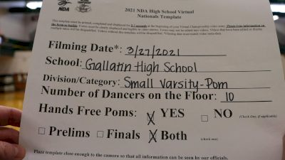 Gallatin High School [Virtual Small Varsity - Pom Prelims] 2021 NDA High School National Championship