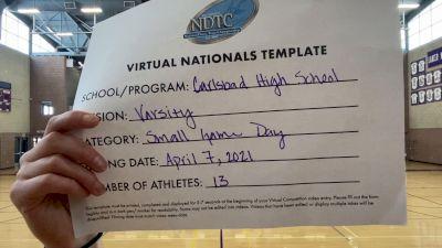 Carlsbad High School [Small Varsity - Game Day] 2021 UDA National Dance Team Championship