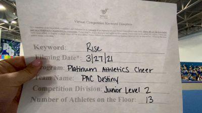 Platinum Athletics - PAC Destiny [L2 Junior - Small] 2021 The Regional Summit Virtual Championships