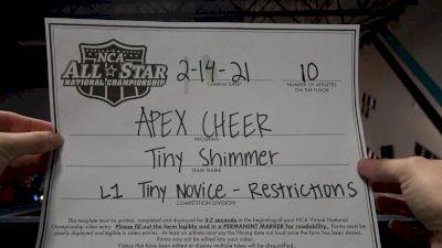 Apex Cheer - Tiny Shimmer [L1 Tiny - Novice - Restrictions] 2021 NCA All-Star Virtual National Championship