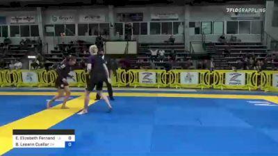 Emily Elizabeth Fernandez vs Barbara Leeann Cuellar 2021 Pan IBJJF Jiu-Jitsu No-Gi Championship