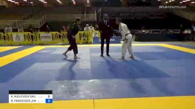 KAISAR ADILEVICH SAULEBAYEV vs ROBERTO FRANCISCO JIMENEZ 2020 Pan Jiu-Jitsu IBJJF Championship