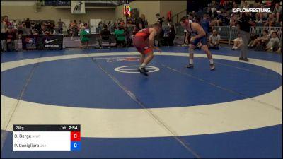 74 kg Rr Rnd 1 - Brady Berge, Nittany Lion Wrestling Club vs Philip Conigliaro, Unattached