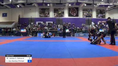 Malachi Edmond vs Lucas Dos Santos Pinheiro 2019 Pan IBJJF Jiu-Jitsu No-Gi Championship